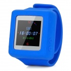 AD666 Wrist Watch Style Fashionable MP4 Player w/ 4GB TF Card / FM - Blue + White