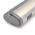 Rectangle Windproof Stainless Steel Butane Lighter - Silver