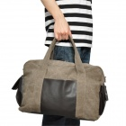 2-Way Heavy Canvas One Shoulder / Tote Bag - Brown 