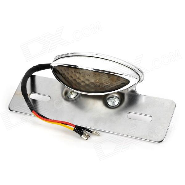 12W 75lm 15-LED Red Light Motorcycle Tail Hazard Lamp - Grey + Silver (12V)