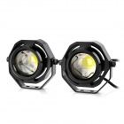 Point Purple 9W 1090lm 6500K White LED Waterproof Car Daytime Running Light (12~24V)