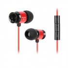 Awei T10vi Stylish In-Ear Earphones w/ Microphone / Clip - Red + Black (3.5mm Plug / 135cm)