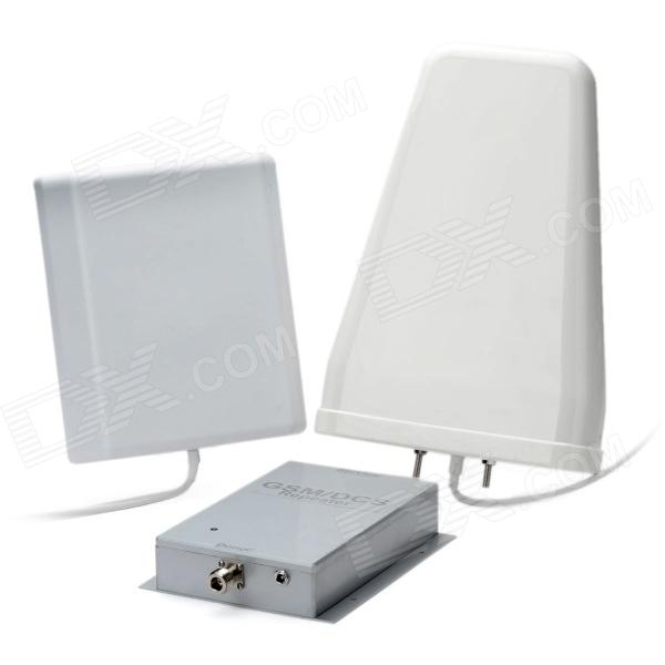 GSM / DCS Cell Phone Mobile Phone Signal Repeater Booster Amplifier w/ Antenna - Silver