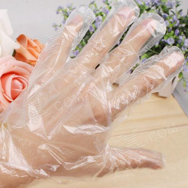 HQS-B2434 Quality Disposable Plastic Gloves - Transparent (150 pieces-pack)