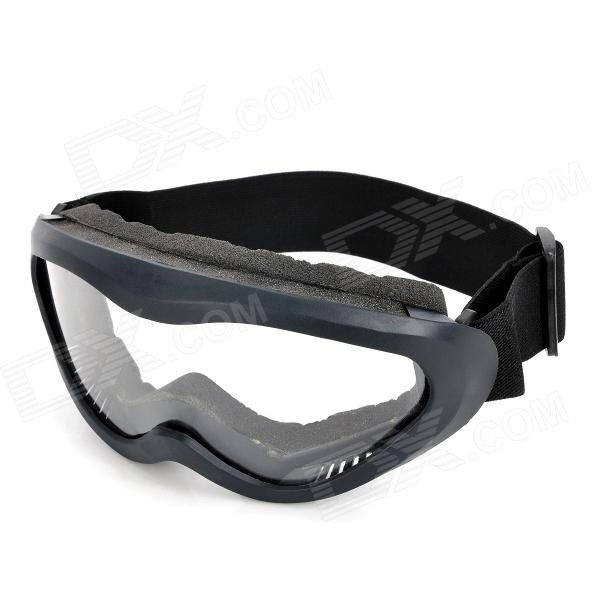 Outdoor Motorcycle Riding Cool Windproof Anti-Dust Goggles - Black