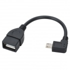 Greenconnection Micro USB Male to OTG Female Adapter Cable for Samsung i9100 / i9250 - Black