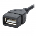 Micro USB Male to OTG Female Adapter Cable for Samsung i9100 - Black