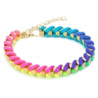 Colorful Woven Bracelet Wrist Band - Multicolor