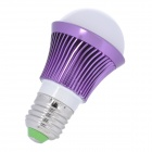 E27 3W 300lm 4000K LED Warm White Light Bulb - Purple + Silver (85~265V)