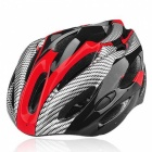 Outdoor Sports Cycling Bike Bicycle Helmet w/ Channeled Vents - Red + Black