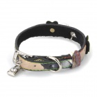 DT-1014 PU Adjustable Pet Dog Collar Leash (Size S)
