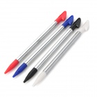 Stylish Retractable Stylus Pen for Nintendo 3DSLL / 3DSXL - Black + White + Blue + Silver (4 PCS)