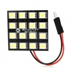 SENCART T10 / BA9S / Feston 31mm~42mm 9W 672~720lm 16-SMD 5050 LED White Car Lamp Set - Black
