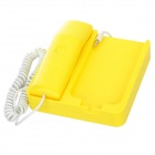 Phone x Phone Retro Desktop Phone Converter Charger Cradle for Iphone 3gs / 3G / 4 - Yellow
