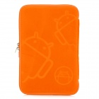 "Robot Pattern Protective Sponge Dual Zipper Bag Case for 7"" Tablets - Orange"