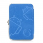 "Robot Patterns Protective Sponge Dual Zipper Bag Case for 7"" Tablets - Blue"