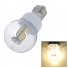 Daiwl E27 5.5W 500lm 3500K Warm White 102-SMD 3528 LED Light Bulb - Yellow + Silver (220V)