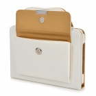Hand-held Briefcase Style Protective PU Leather Case for Ipad MINI - White