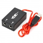 USB 2.0 Male to 2 x 6.3mm Audio Adapter Cable - Black + Transparent Red (88cm-Cable)