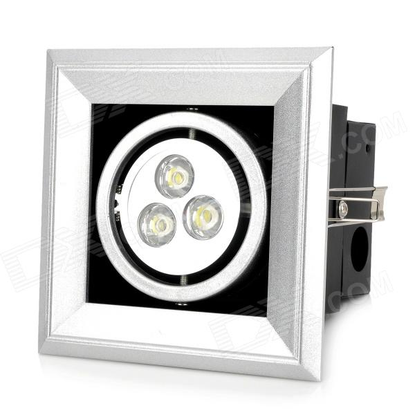 3W 90~100lm 6500K Cold White Light 3-LED Ceiling Lamp (100~240V)