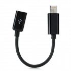 8-Pin Lightning Male to Micro USB Female Data / Charging Cable for iPhone 5 / iPad Mini - Black