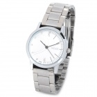 MIKE 8148 Fashion Women's Stainless Steel Quartz Analog Wrist Watch - White + Silver (1 x CR626)
