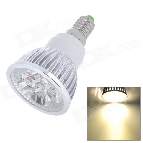 E14 4W 360lm 6500K White 4-LED Light Bulb - Silver (85~265V)
