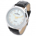 STPATRICK FI-353A Men's Business Genuine Leather Band Quartz Analog Wrist Watch - (1 x SR626SW)