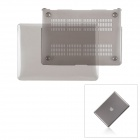 "Protective Top Flip Open Case Cover for MacBook Pro 15.4"" - Transparent Grey"