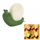 Snail Shaped 0.2W 2-LED Color Changing Light-Operated Night Lamp - Green (DC 5V / 122cm-Cable)