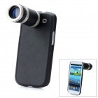 8X Zoom Telescope Lens with Protective Back Case for Samsung i9300 / Galaxy S III - Black + Silver
