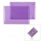 "Protective Top Flip Open Case Cover for MacBook Pro 15.4"" - Transparent Purple"