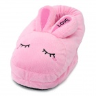 Cute Rabbit Shaped USB Powered Heated Foot Warming Soft Slippers - Pink (Pair)
