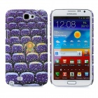 The Magical World of Jimmy Pattern Protective Plastic Back Case for Samsung N7100 - Purple