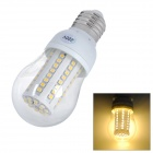 E27 4.5W 3000K 480lm 80-SMD 3828 LED Warm Light Bulb - White + Yellow (220V)