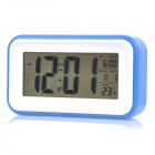 1017 4.6&quot; LCD White Light Perpetual Calendar Alarm Clock w/ Backlight / Snooze - Blue (3 x AAA)