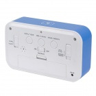 "1017 4.6"" LCD White Light Perpetual Calendar Alarm Clock w/ Backlight / Snooze - Blue (3 x AAA)"