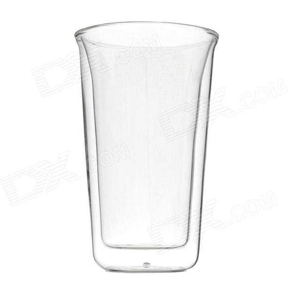 A03 Double-Walled Wide Mouth Bottle Glass - Transparent (350ml)