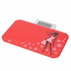 "KY-3043 Girl Pattern Portable 2.5"" LCD Digital Personal Body Weight Scale - Red + White (5~150kg)"