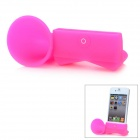 VR Silicone Horn Stand Audio Amplifier for iPhone 5 - Deep Pink
