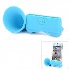 VR Silicone Horn Stand Audio Amplifier for iPhone 5 - Blue