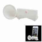 VR Silicone Horn Stand Audio Amplifier for iPhone 5 - White