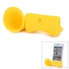 VR Silicone Horn Stand Audio Amplifier for iPhone 5 - Yellow