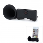 VR Silicone Horn Stand Audio Amplifier for iPhone 5 - Black