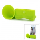 VR Silicone Horn Stand Audio Amplifier for iPhone 5 - Green