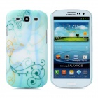 Hotsion s93-05-l Flower Art Pattern Protective Plastic Back Cover Case for Samsung i9300 - Green