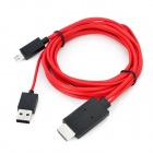 Micro USB MHL to HDMI HDTV Cable w/ USB Port for Samsung Galaxy Note II N7100 + More - Black (200cm)