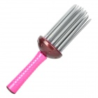 Hair Styling Curler Curling Comb Brush - Deep Pink + Grey