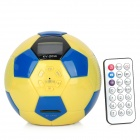 "KV-2014 1.5"" LCD Portable Football Shape MP3 Player Speaker w/ FM + SD Card Slot + Remote Controller"