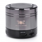 TOZ TOZ-BT002 Handsfree Bluetooth v3.0 Speaker w/ FM Radio - Black + Deep Coffee